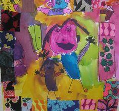 Art Lesson by Rachel Relin. Preschool self-portrait.