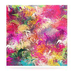 "Danny Ivan ""Splash"" Rainbow Abstract Luxe Square Panel"