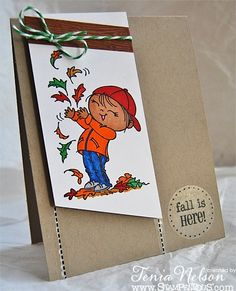 Stamps by Stampendous!, markers by Copics, ink by IMAGINE Crafts/Tsukineko and twine by The Twinery. Created by Tenia Nelson.