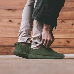 Olive 350's   _________________________________  #Adidas #Yeezy #Boost #350 #yeezy350 #yeezyboost350 #sneaker #sneakers #kicks #sole #footwear #olive #tan #army #military #color #kanye #kanyewest #kimkardashian #dope #fresh #marijuana by blkvis