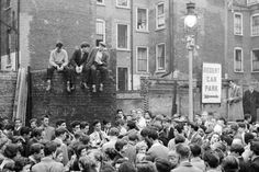 Band playing 1956 bombsite ,Soho London, my mum lived here at the time..