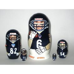 Chicago Bears NFL Football Russian nesting dolls