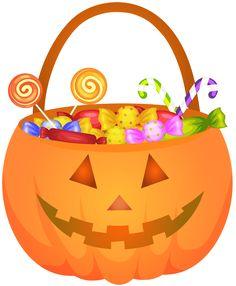 Halloween Pumpkin Basket PNG Clip Art Image