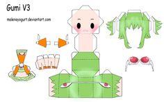 Megpoid Gumi V3 Papercraft by ~MalenaYogurt on deviantART