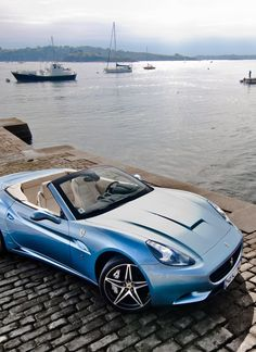 Gorgeous Baby Blue #Ferrari California with the perfect backdrop. See more…