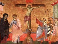 Guido da Siena (frammento di un dossale) Crocifissione