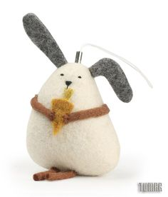 Mobile bunny.                                    Felt - 100% wool. Filler - hollofayber. Machine and hand assembly. Hand embroidery.Catalogue 2017 Simply magic  Tumar Art Group.