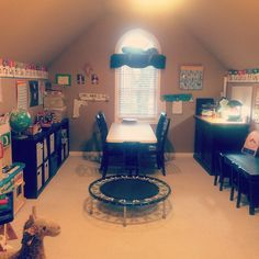 Our Montessori / Waldorf / classical hybrid homeschool room... I've gotten a lot of questions about homeschooling lately and am thinking about writing a post with our schedule/ systems etc and how we keep the little kids busy while the older kids are working... Any interest? #lifewithkids #homeschool