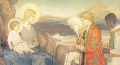 The Adoration of the Magi  ~ John Duncan (Scottish 1866-1945)
