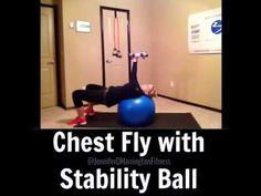 Chest Flys with Stability Ball www.youtube.com/JenniferDHarrington www.facebook.com/JenniferDHarringtonFitness www.JenniferDHarrington.com