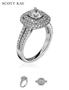 Beautiful Scott Kay Luminaire Diamond Engagement Ring. Product Style: M1618R310 #ScottKay #EngagementRings #Diamonds
