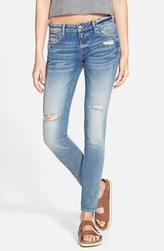 Vigoss Distressed Skinny Jeans (Light Wash) available at #Nordstrom