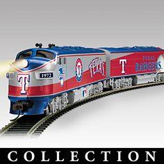 Texas Rangers Express Illuminated Electric Train! Perfect Christmas present for Matt!