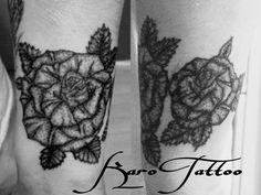 Rose dotwork karo Tattoo