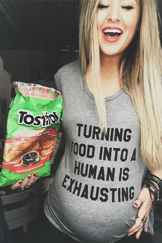 Turning Food Into A Human is Exhausting Food Baby Shirt