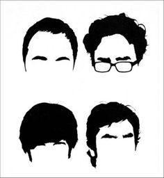 It's scary-funny when you recognize tv characters by their hair (and feel kinda happy when you see them).