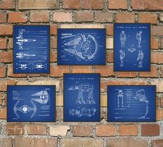 The Ultimate Star Wars Fan Patent Wall Art Poster Set    This set of six Star Wars posters is printed using high quality archival inks on