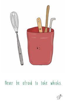 Whisks. (The Taste Buds, pun, illustration).