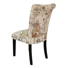 Monsoon Voyage Upholstered Brown Dining Chairs Set Of 2 17999