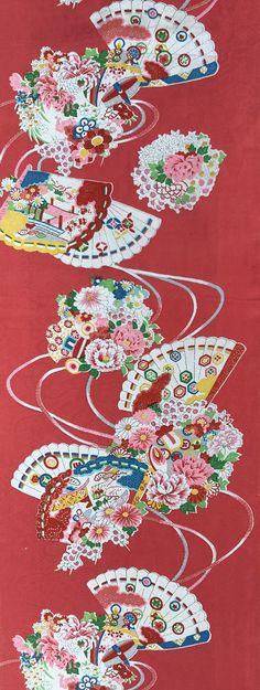 6624:1960s Japanese Silk Fabric 60 inches Pieces (AraiHari) #japanesefabric #instaquilt #instasew #bulkkimono