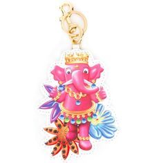 Moschino Elephant Keyring (12,560 INR) ❤ liked on Polyvore featuring accessories and moschino