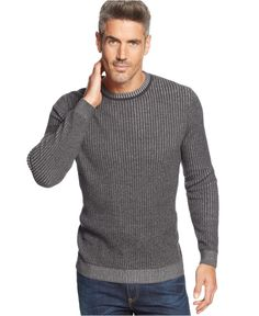 Tasso Elba Chunky Plaited Crew-neck Sweater - Sweaters - Men - Macy's