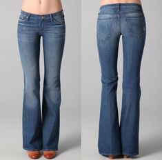 Boot cut jeans for inverted triangle. I need another pair of these. Have a DKNY pair from a few years ago. Nothing looks better on me than these.