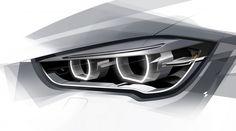 2016 BMW X1 - Headlight Design Sketch carbodydesign.com