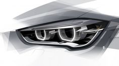 2016 BMW X1 - Headlight Design Sketch