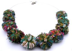 Recycled Wool Beads and Necklaces