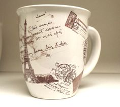 French Sale Postal Postage Stamps Eiffel Tower Mug by greerdesign, $16.00