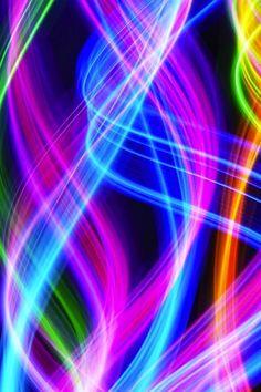 Neon Swirls of Color