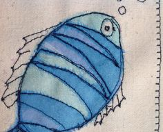 This colourful fish was made by sewing layers of organza onto a canvas background. The finished result is similar to that of a painted picture but far more special and unique. The needle was my pen and the fabric was my paint. It has to be held in the hand to be fully appreciated. This card would shine out from any others in a line up and would be perfect for framing as a special memento to keep long after the event. Each card is individually handmade by me in my studio so small variations…
