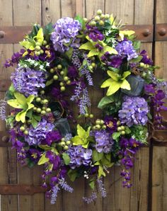 Vintage spring/summer wreath by WilliamsFloral on Etsy, $105.00