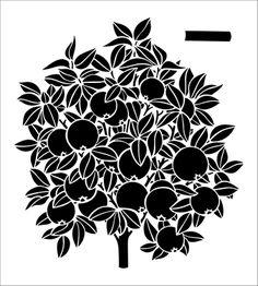 Orange Tree stencil from The Stencil Library online catalogue. Buy stencils online. Stencil code 340-L.