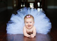 Cute little outfit & pose for a baby girl. Cuz my daughter will obviously be a princess and a ballerina.