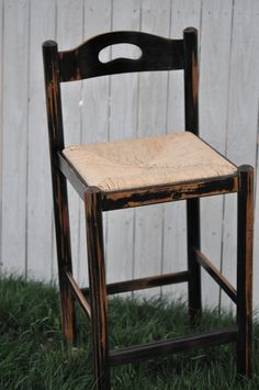 Set of 2 Black Distressed Bar Stools with by RepurposedthruGrace, $124.50