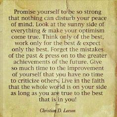 A promise...