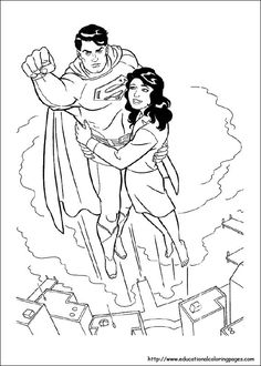 Color #Superman with this coloring page on #DCKids!   DC Kids ...