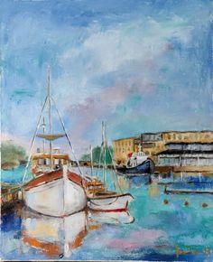Sea Art, Figurative Art, Skiing, Abstract Art, My Arts, Landscape, Canvas, Painting, Ski
