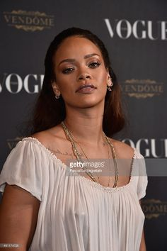 Rihanna attends the Vogue 95th Anniversary Party on October 3, 2015 in Paris, France.