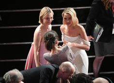 Margot Robbie Photos - (L-R) Actors Saoirse Ronan, Sally Hawkins and Margot Robbie speak during the 90th Annual Academy Awards at the Dolby Theatre at Hollywood & Highland Center on March 4, 2018 in Hollywood, California. - 90th Annual Academy Awards - Show