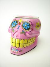 Pink Sugar Skull Burner Wax Tart Oil Candle Warmer Electric Polyresin