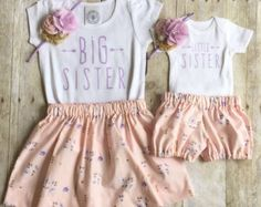 Girls big sis outfit, big sister shirt, little sister shirt, sibling shirts… Big Sister Little Sister, Baby Sister, My Baby Girl, Little Sisters, Big Sister Shirts, Baby Boys, Toddler Fashion, Toddler Outfits, Kids Outfits