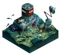 Underwater Base on Behance