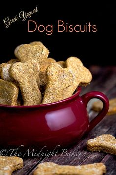 Greek Yogurt Dog Biscuits | bakeatmidnite.com | #dogbiscuits #greekyogurt