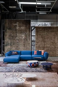 Moroso held the world premiere presentation of 'Setting the Elegance' collection in their Milan showroom in the presence of partners Kvadrat & Rubelli.