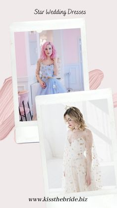 These quirky and beautiful wedding dresses are perfect for the alternative bride. #starweddingdresses Indie Wedding Dress, Classic Wedding Dress, Wedding Dress Trends, Colored Wedding Dresses, Designer Wedding Dresses, Wedding Dress Illusion Back, Celestial Wedding, Alternative Bride, Star Wedding
