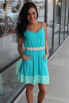 Dottie Couture Boutique - Teal Tank Dress, $49.00 (http://www.dottiecouture.com/teal-tank-dress/)