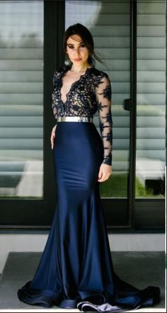 Prom Dresses Ball Gown, Sexy Sheer Deep V Neck Mermaid Prom Dresses Lace Applique Royal Evening Dress Sweep Train Party Gowns prom dresses, from the ever-popular high-low prom dresses, to fun and flirty short prom dresses and elegant long prom gowns. Prom Dresses 2017, Prom Party Dresses, Evening Dresses, Bridesmaid Dresses, Formal Dresses, Wedding Dresses, Zug Party, Mermaid Prom Dresses Lace, Lace Dresses